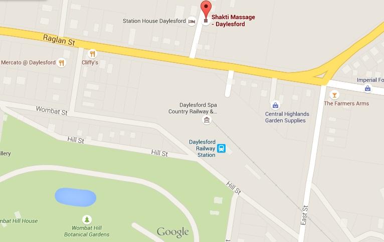 Location of best Daylesford based Massage Studio | Shakti Massage - Daylesford
